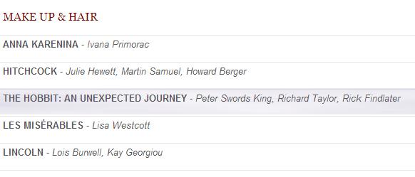 ■ [ The Hobbit ]  Le Hobbit nominé aux BAFTA pour le film !
