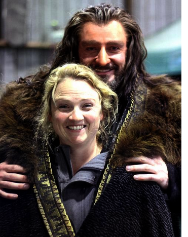 ■ [ The Hobbit ]  Photo souvenir du tournage avec Richard Armitage et Tami Lane