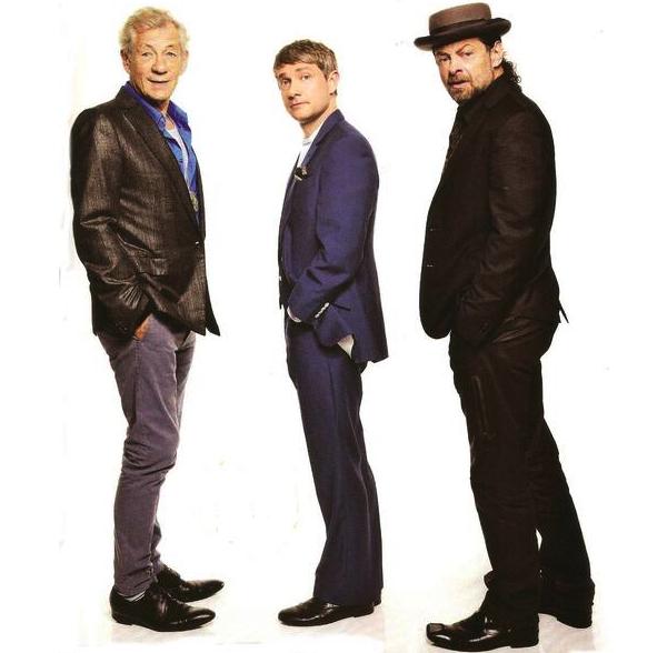 ■ [ The Hobbit ]  Photoshoot de Martin, Andy et Sir Ian