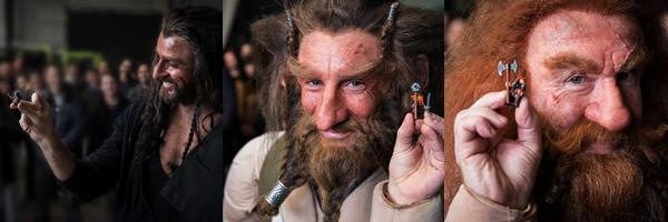 ■ [ The Hobbit ]  Le Casting et les figurines Lego Je ne les avais pas encore poster sur le blog donc je le fais enfin.Il s'agit de photos souvenirs qui  ont été prises sur le tournage du film avec une grande partie des acteurs et leurs figurines LEGO