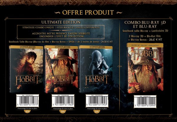 ■ [ The Hobbit ]  Sortie du Blu-Ray