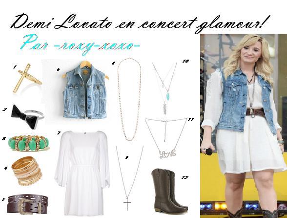 1er Style: Demi Lovato en Concert glamour!
