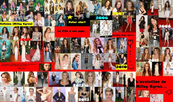 1:L'évolution de Miley Cyrus!