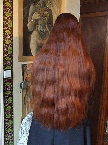 Cheveux au hénné.