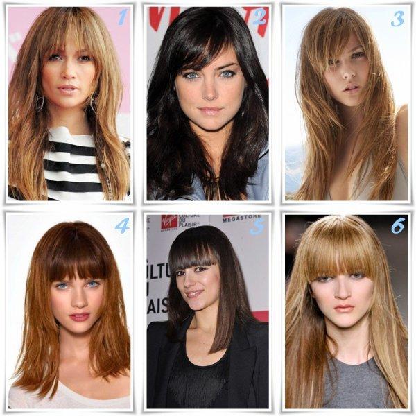 La frange tendance coiffure printemps été 2012