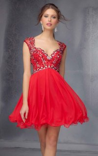 2015 Beaded Sweetheart-Neck Short Bodice Cocktail Dresses
