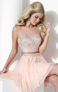 2015 Sweetheart Neck Tulle Bodice Short Homecoming Dresses