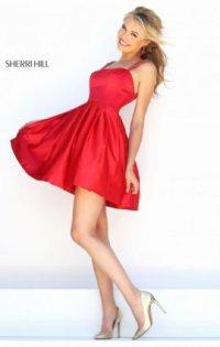 Straps Beaded 2016 Straight-Neck Short Pleated Prom Dresses