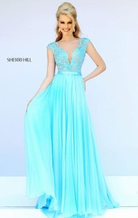 2015 Beaded Lace Applique Bodice Long Prom Dresses