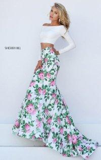 High-Neck 2015 Beaded Open-Back Short Bodice Prom Dresses