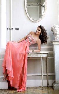 Chiffon Sweetheart-Neck 2015 Short Lace Prom Dresses