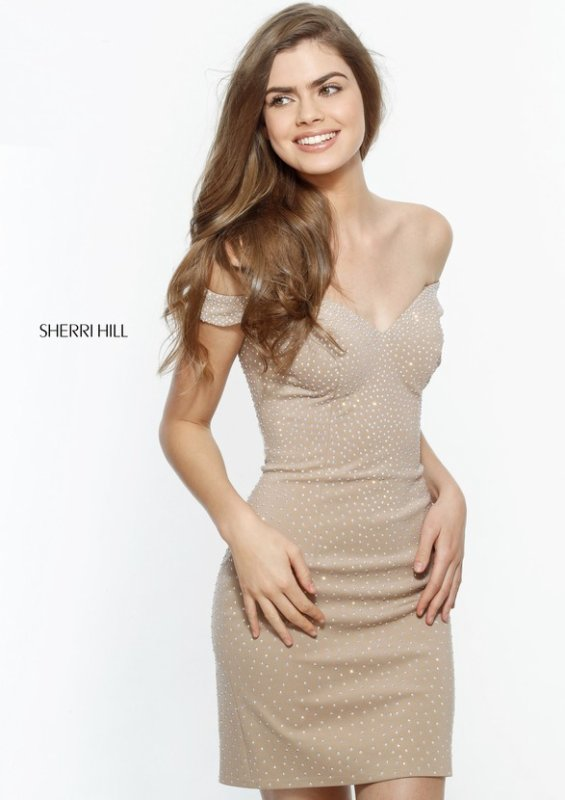 Sherri Hill 51324 Nude Dresses On Sale