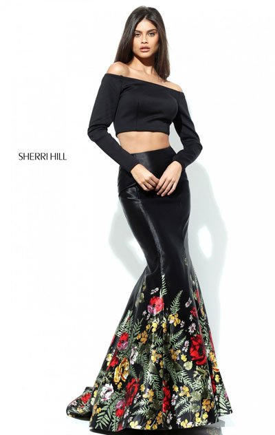 Sherri Hill 50770 Black/Multi Mermaid Gown 2017