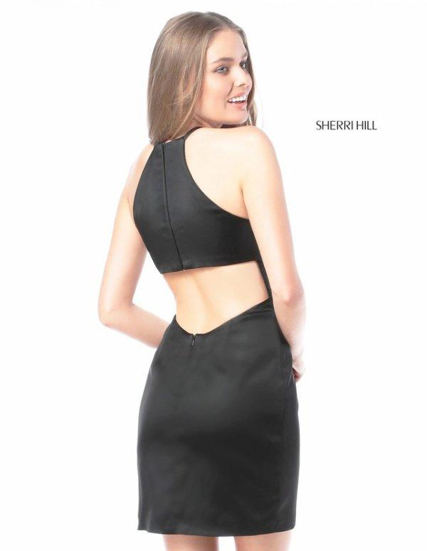 Sherri Hill 51421 Black And Blush Cocktail Dresses 2017