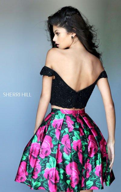 Sherri Hill 50774 Red And Fuchsia Prom Dresses Discount