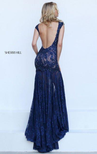 Navy/Nude For Sherri Hill 50023 Evening Dresses