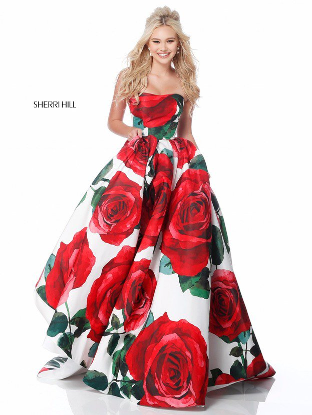 2018 Sherri Hill 51926 Red Prom Dresses