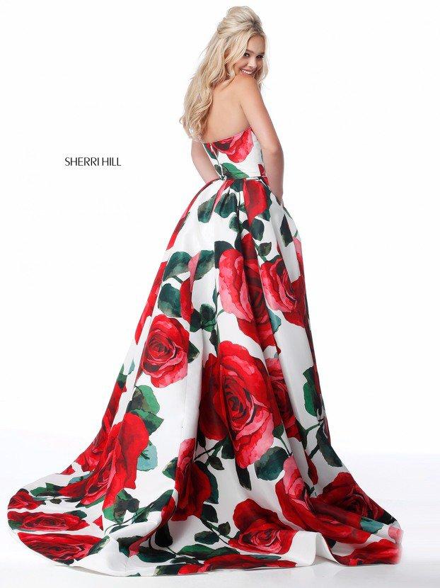 2018 Sherri Hill 51926 Red Prom Dresses