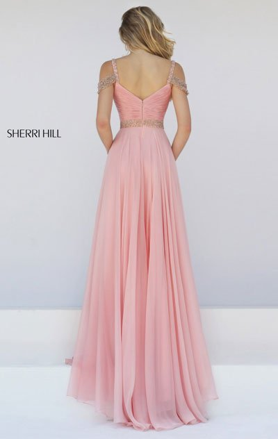 2018 Sherri Hill 50086 Blush Party Dresses