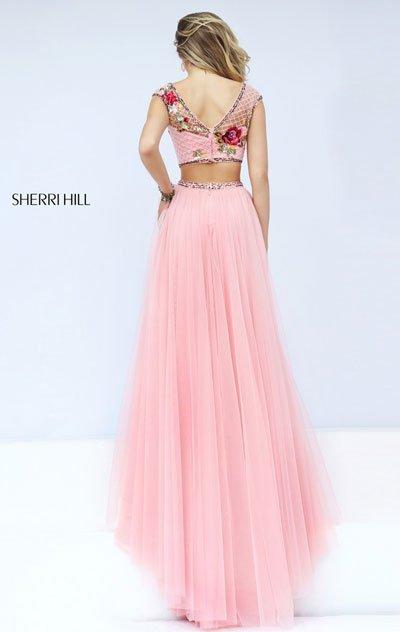 2018 Sherri Hill 32367 Ivory/Multi Party Dresses