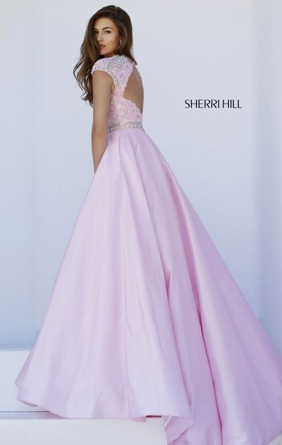 2018 Sherri Hill 32363 Pink Evening Gowns