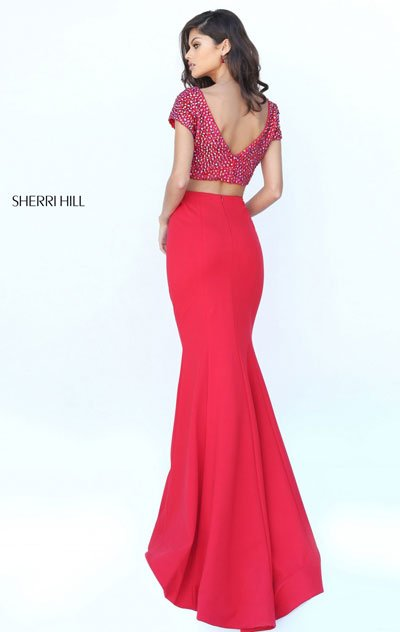 Sherri Hill 50614 Red Mermaid Gown 2018