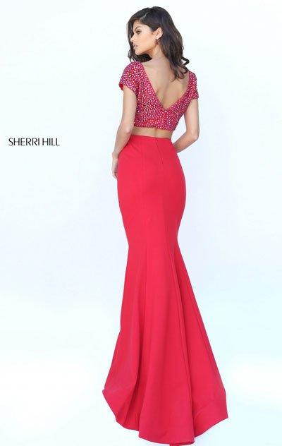 Sherri Hill 50614 Red Mermaid Gown 2018