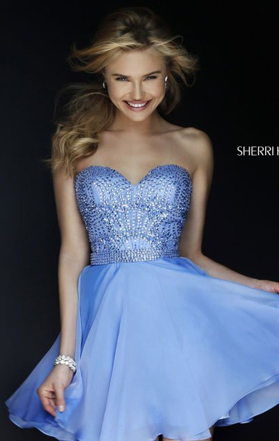 Sherri Hill 1978 Periwinkle 2018 Short Prom Dress