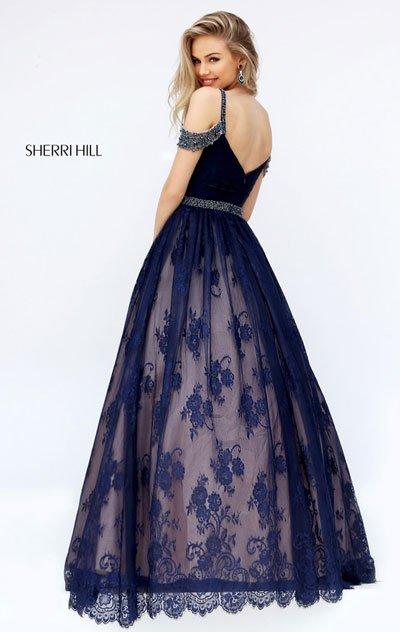2018 Sherri Hill 50595 Burgundy Long Party Dresses