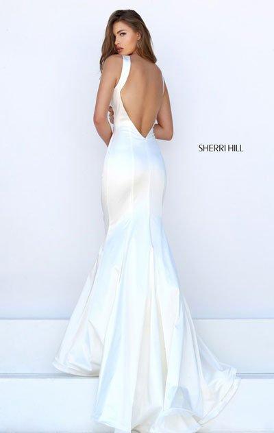 2016 Sherri Hill 50044 Ivory Long Prom Dresses