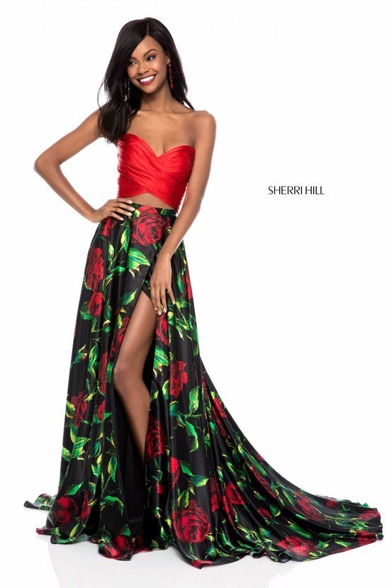 8b2c0d64ac2d 2018 Sherri Hill 51937 Red Black Long Prom Dresses - prom dresses ...