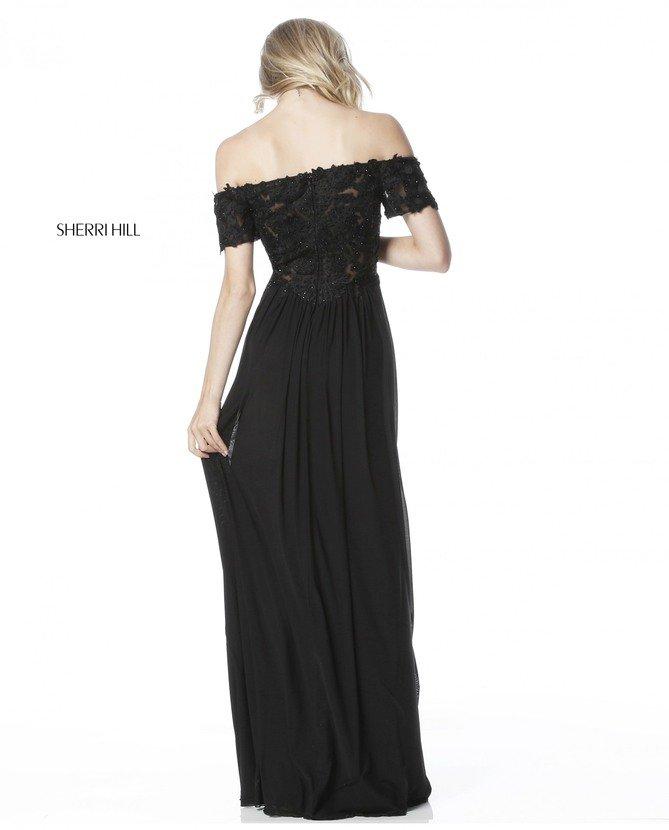 2018 Off The Shoulder Black Evening Dress SH 51556