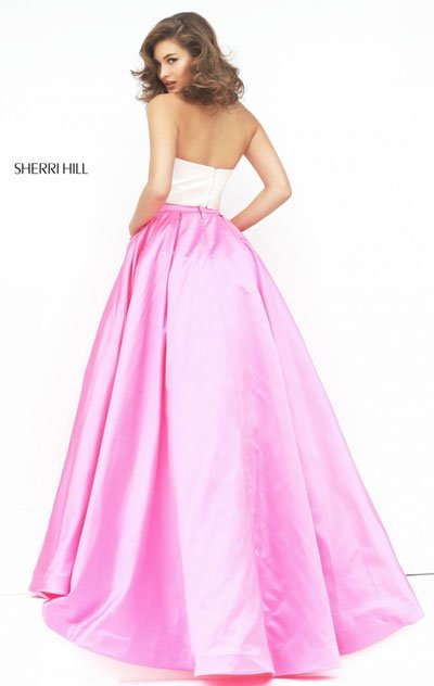 2016 Pink/Ivory Sherri Hill For 50219 Dresses 2 Piece