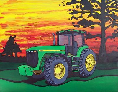 Dessin john deere agriculture et miniature agricole - Dessin anime de tracteur john deere ...