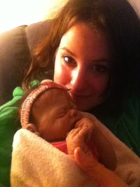Ma fille et moi devant BabyBoom