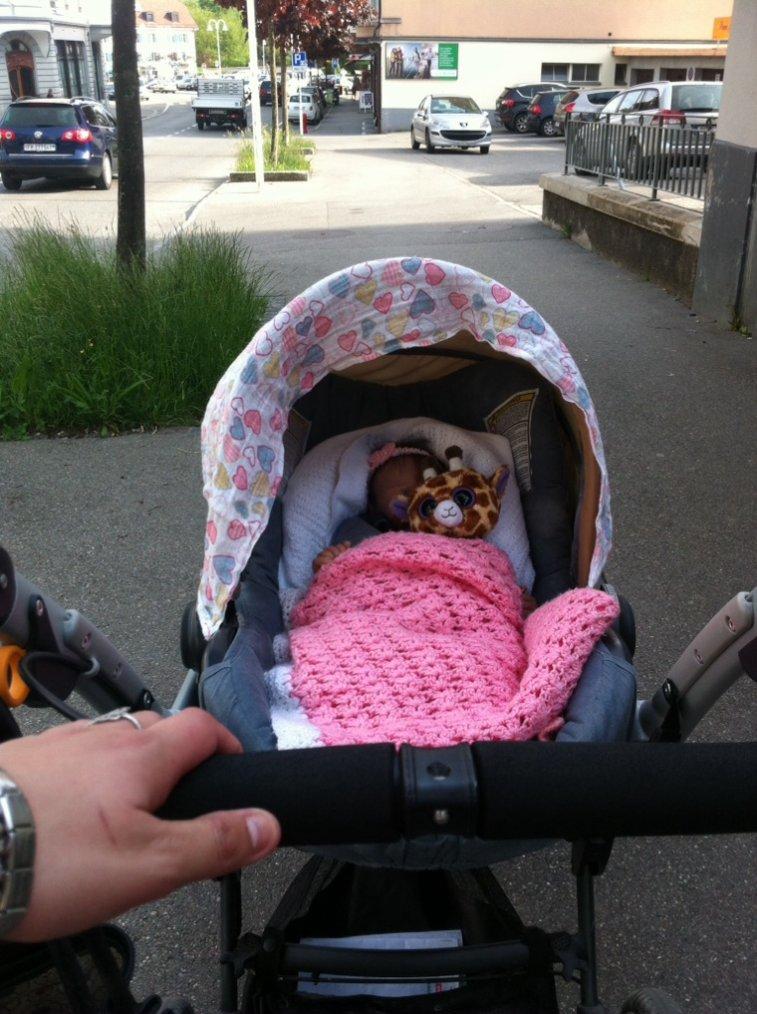 Ma fille en promenade
