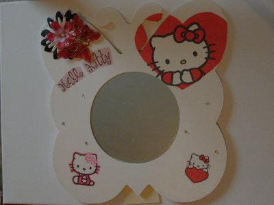 Miroir papillon Hello Kitty