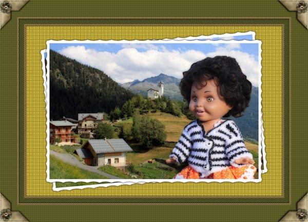 Tina à la montagne...