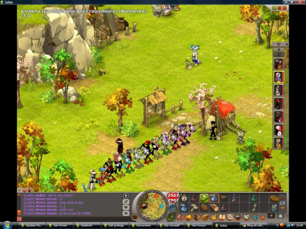 Petit Screen avec la guilde **