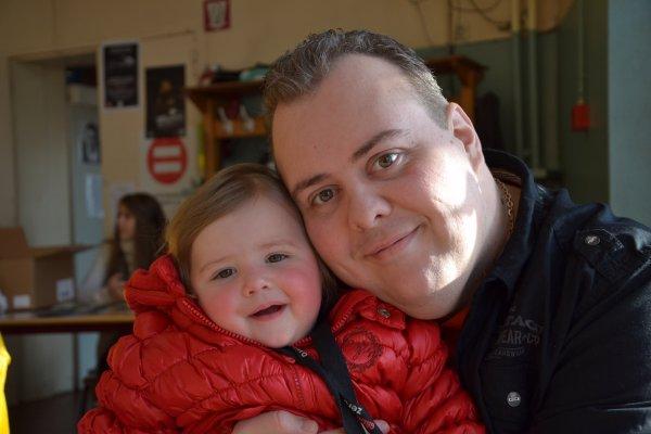Moi avec ma fille !
