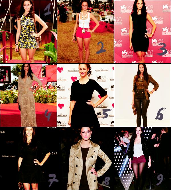 Récapitulatifs des tenues de Kaya en 2011 ! La quelle préfères-tu ? (: