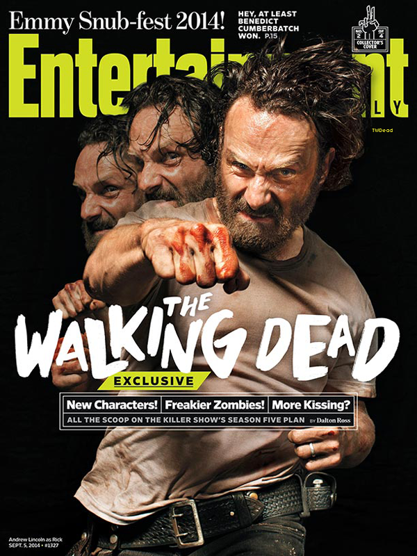 Découvre les quatres couvertures du magazine Entertainment Weekly 100% The Walking Dead ainsi que le shoot promo.
