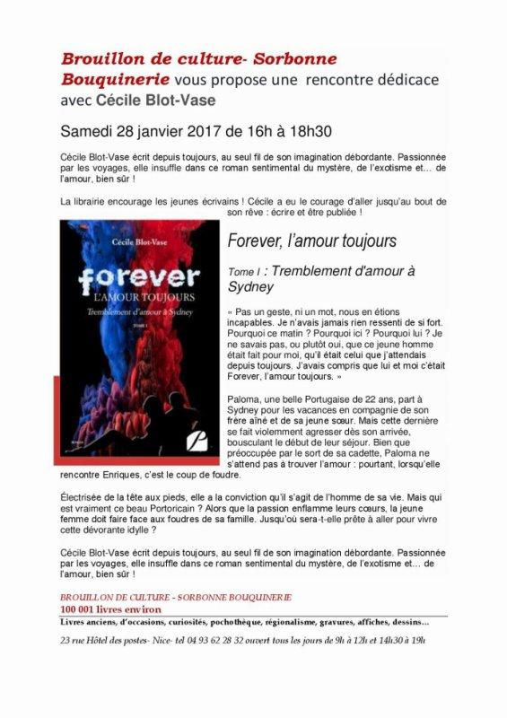 SEANCE DE DEDICACES - 28/01/2017