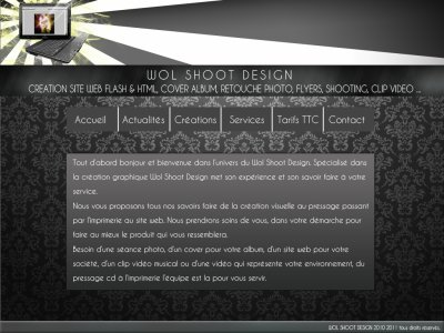 wol shoot design le nouveau site en ligne !!!!