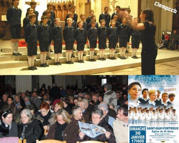 Saint-Quay-Portrieux - Les Petits Chanteurs à la Croix de Bois remplissent l'église...