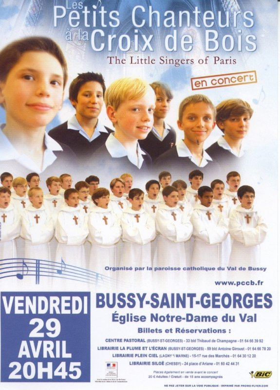 CONCERT ISOLE PCCB  A BUSSY SAINT GEORGES (77)