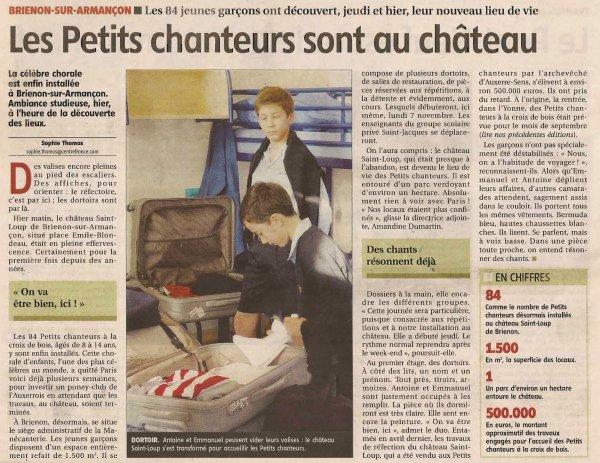 """""""Les Petits Chanteurs sont au château..."""""""