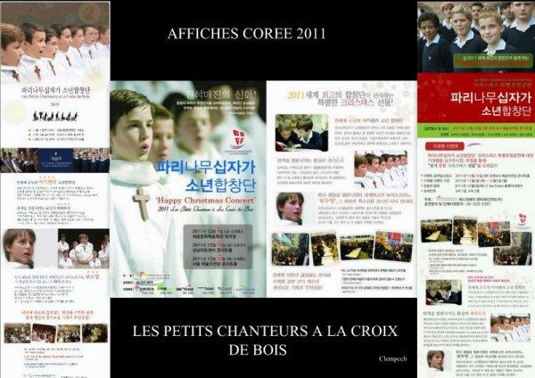 LES AFFICHES TOURNEE COREE 2011