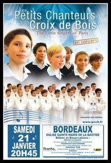 Les Petits Chanteurs à La Croix de Bois à Bordeaux ce week end