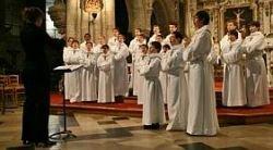 Les voix des Petits Chanteurs sous les voûtes de St-Nicolas...
